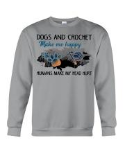 Dogs And Crochet - Make Me happy Crewneck Sweatshirt thumbnail