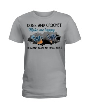 Dogs And Crochet - Make Me happy Ladies T-Shirt thumbnail