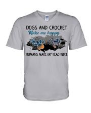 Dogs And Crochet - Make Me happy V-Neck T-Shirt thumbnail