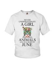 hippie girl-june Youth T-Shirt thumbnail