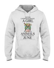 hippie girl-june Hooded Sweatshirt thumbnail