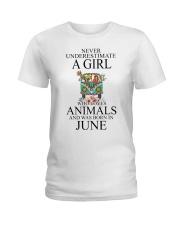 hippie girl-june Ladies T-Shirt thumbnail