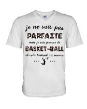Basketball - Je ne Suis Pas Parfaite V-Neck T-Shirt thumbnail