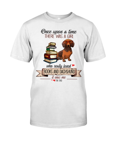 Once upon a time books and dachsund