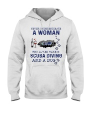 Never Underestimate A Woman - Scuba Diving Hooded Sweatshirt front