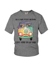 Dog - On a dark desert Youth T-Shirt thumbnail