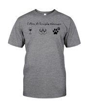 Dog - simple woman Classic T-Shirt front