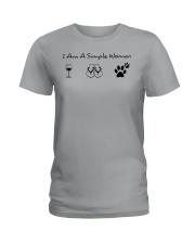 Dog - simple woman Ladies T-Shirt thumbnail