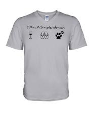 Dog - simple woman V-Neck T-Shirt thumbnail