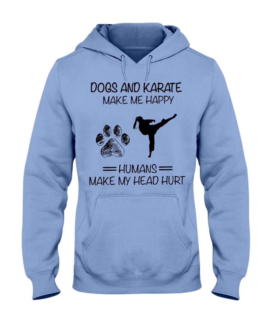 dogs-karate make me happy Hooded Sweatshirt
