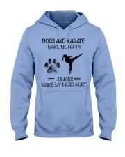 dogs-karate make me happy Hooded Sweatshirt front