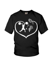 Easily distracted weightlifting GermanShepherd  PT Youth T-Shirt thumbnail