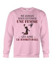 basketball- sous estimer une femme Crewneck Sweatshirt thumbnail