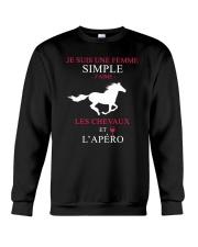 cheval-femme simple apero Crewneck Sweatshirt thumbnail