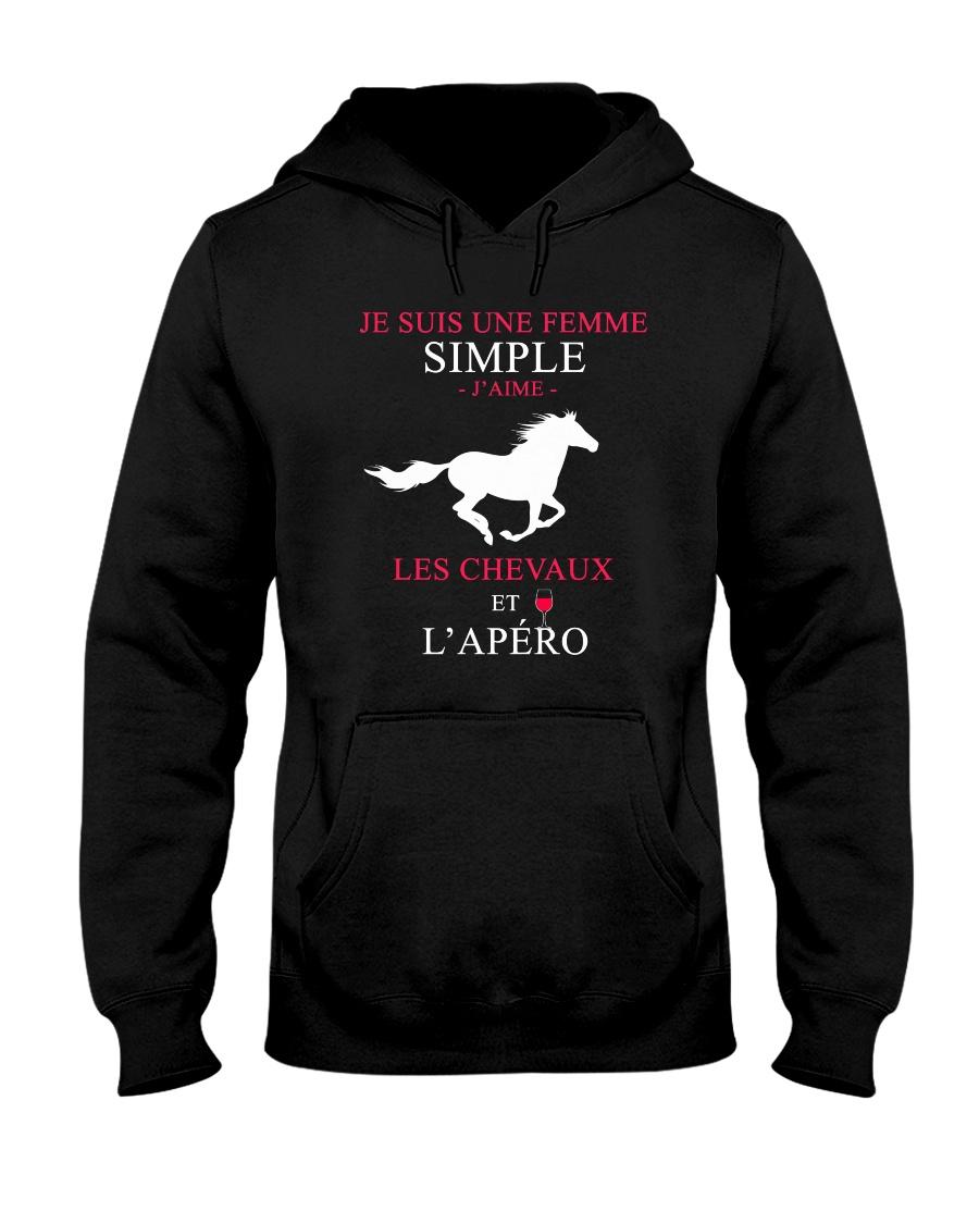cheval-femme simple apero Hooded Sweatshirt