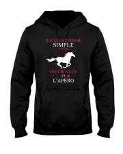 cheval-femme simple apero Hooded Sweatshirt front