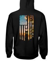 Minnesota USA Flag fishing PT Hooded Sweatshirt back