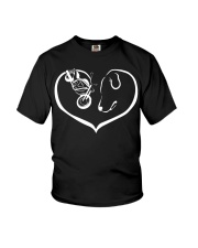 easily distracted by motorcycle and dog  Youth T-Shirt thumbnail