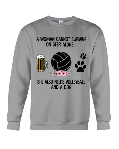 She needs beer dog volleyball
