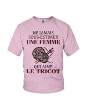 le tricot - sous estimer une femme Youth T-Shirt thumbnail