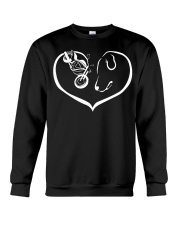 easily distracted by motorcycle and dog  PT Crewneck Sweatshirt thumbnail