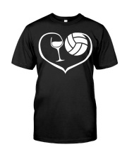 easily distracted by wine and volleyball  Classic T-Shirt thumbnail
