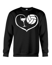 easily distracted by wine and volleyball  Crewneck Sweatshirt thumbnail