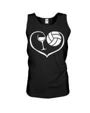 easily distracted by wine and volleyball  Unisex Tank thumbnail