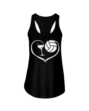 easily distracted by wine and volleyball  Ladies Flowy Tank thumbnail