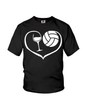 easily distracted by wine and volleyball  Youth T-Shirt thumbnail