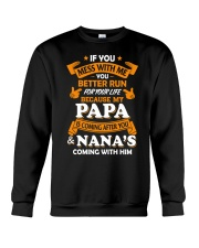 Papa and Nana coming Crewneck Sweatshirt thumbnail