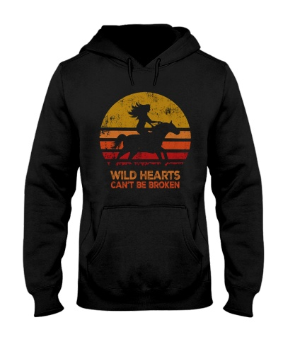 Horse Usa flag wild hearts - 2 sides