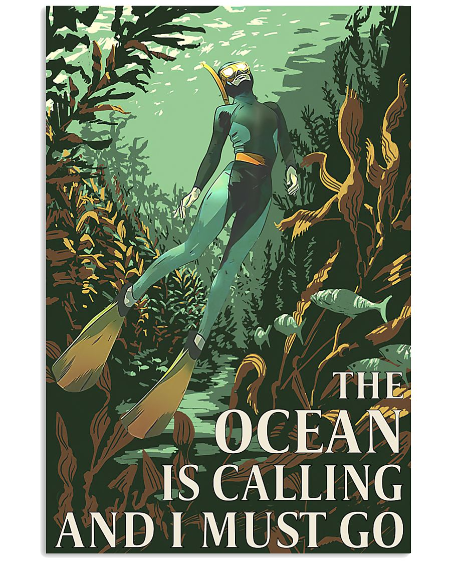 The Ocean Is Calling And I Must Go 11x17 Poster