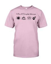 dog - simple woman sunshine Classic T-Shirt thumbnail