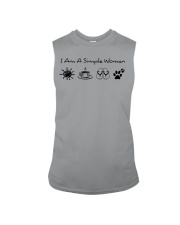 dog - simple woman sunshine Sleeveless Tee thumbnail