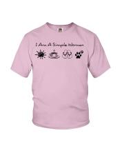 dog - simple woman sunshine Youth T-Shirt thumbnail