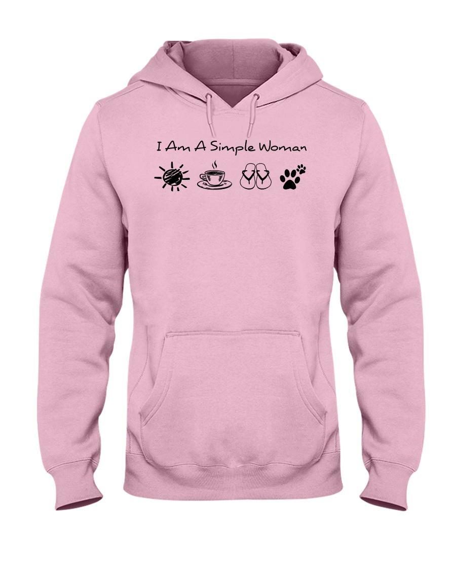 dog - simple woman sunshine Hooded Sweatshirt