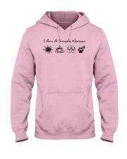 dog - simple woman sunshine Hooded Sweatshirt front