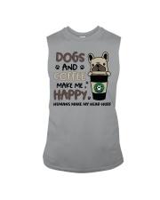 Dogs and coffee make me happy Sleeveless Tee thumbnail