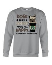 Dogs and coffee make me happy Crewneck Sweatshirt thumbnail