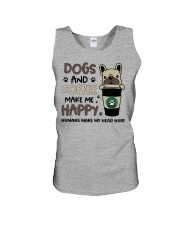 Dogs and coffee make me happy Unisex Tank thumbnail