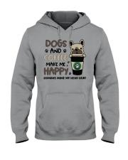 Dogs and coffee make me happy Hooded Sweatshirt thumbnail