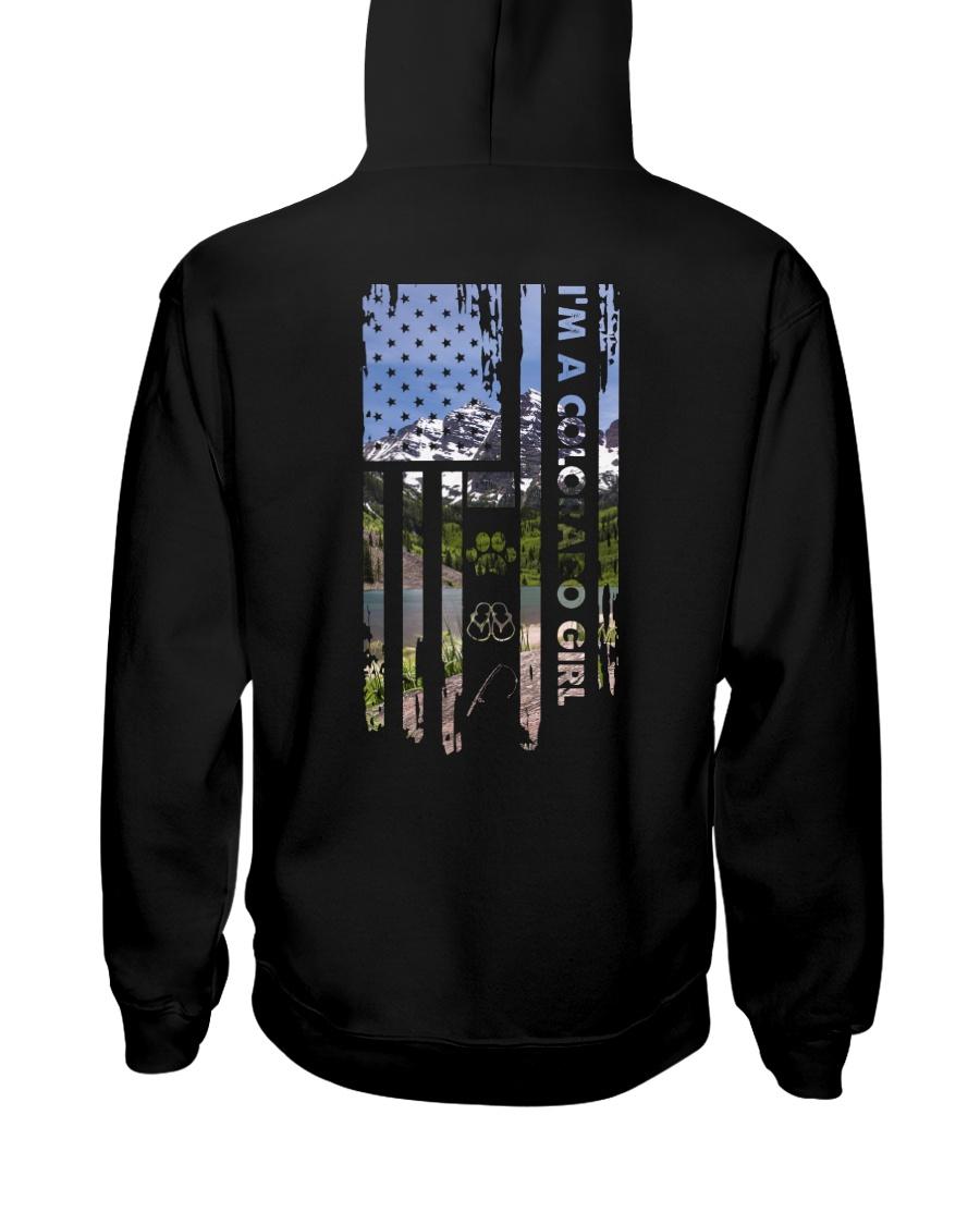 Colorado USA Flag mountain PT Hooded Sweatshirt
