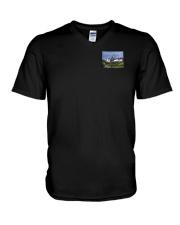 Colorado USA Flag mountain PT V-Neck T-Shirt thumbnail