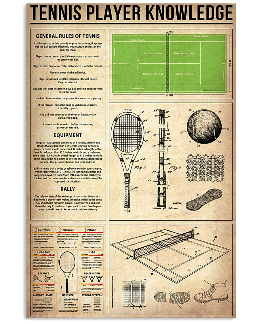 Tennis Player Knowledge 11x17 Poster