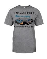 Cats And Crochet - Make Me happy PT Classic T-Shirt thumbnail