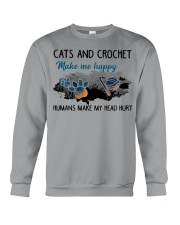 Cats And Crochet - Make Me happy PT Crewneck Sweatshirt thumbnail