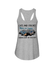 Cats And Crochet - Make Me happy PT Ladies Flowy Tank thumbnail