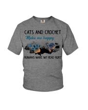 Cats And Crochet - Make Me happy PT Youth T-Shirt thumbnail