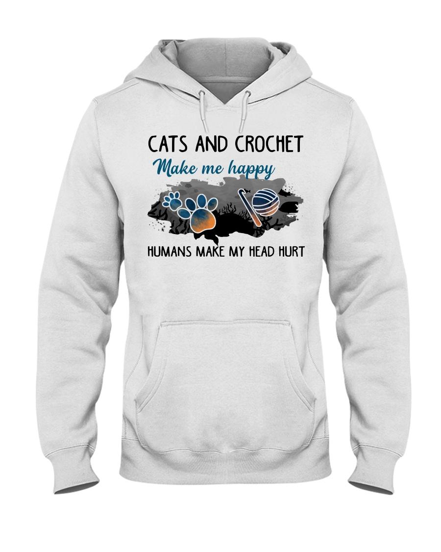 Cats And Crochet - Make Me happy PT Hooded Sweatshirt